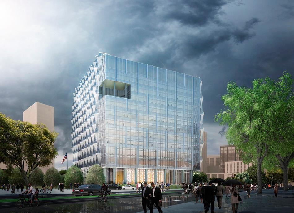 Здание посольства США в Лондоне на участке размером 19,8 тыс. кв. м будет иметь 12 этажей в высоту