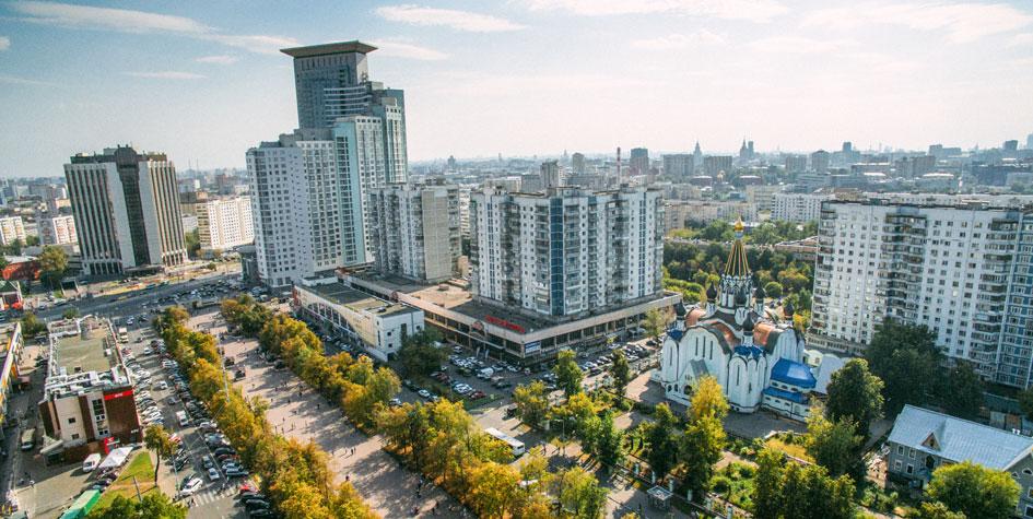 Вид на Сокольническую площадь