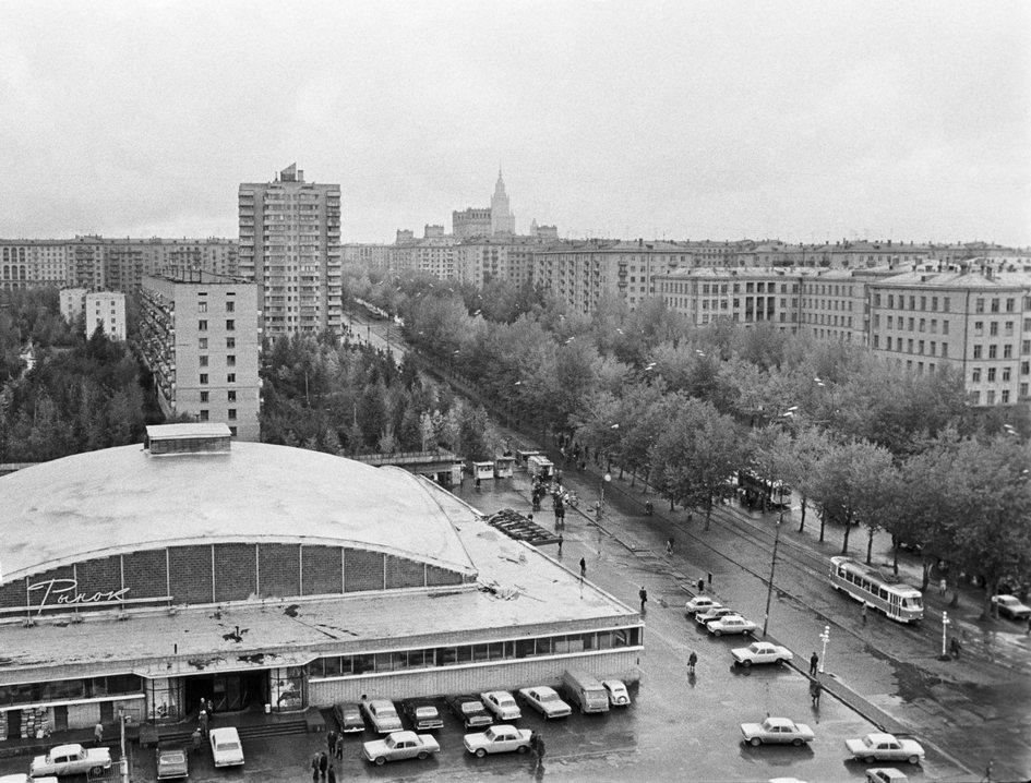 Вид на Черемушки и Черемушкинский рынок (на первом плане)