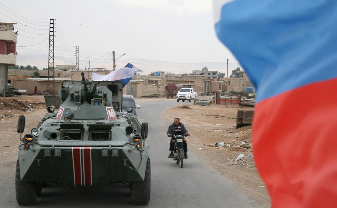 Военная полиция России на границе Сирии и Турции