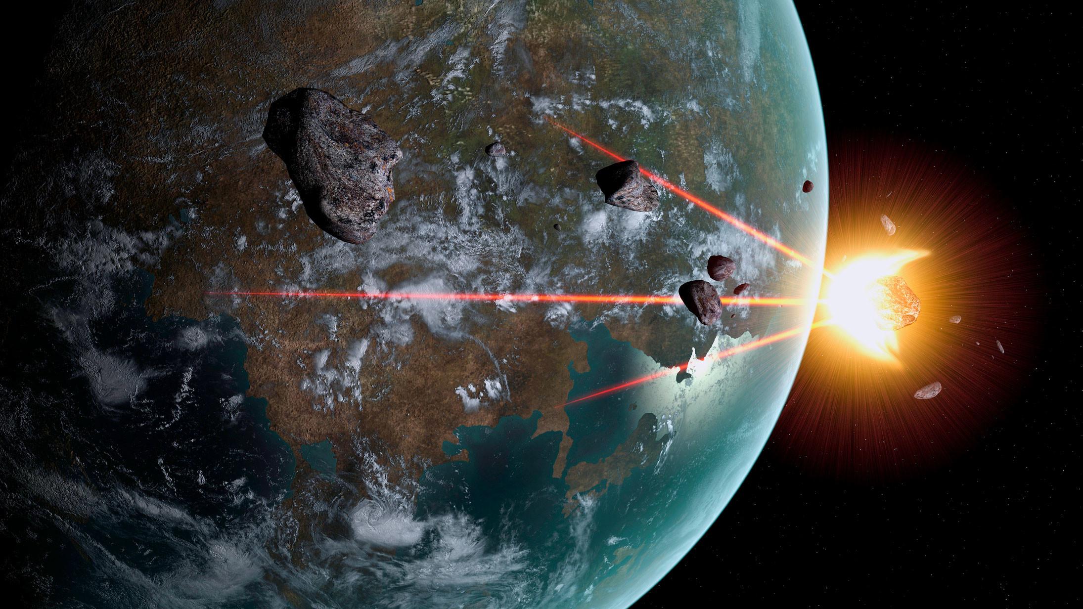 Большинство метеоритов сгорает в атмосфере, до Земли способны долететь лишь самые крупные