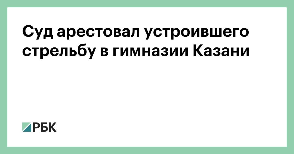 Суд арестовал устроившего стрельбу в гимназии Казани