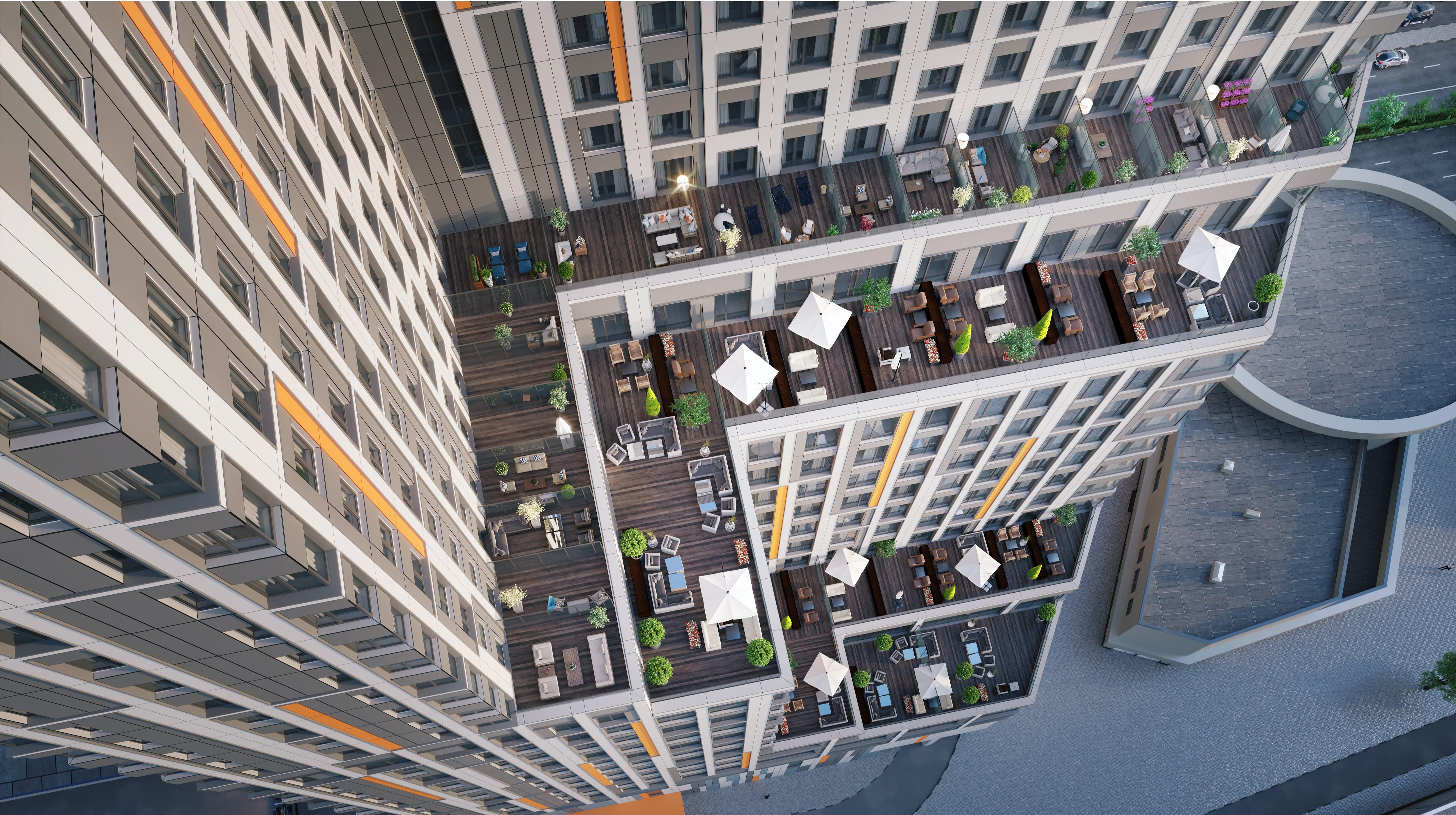 Апартаменты с террасами в МФК Technopark. Визуализация