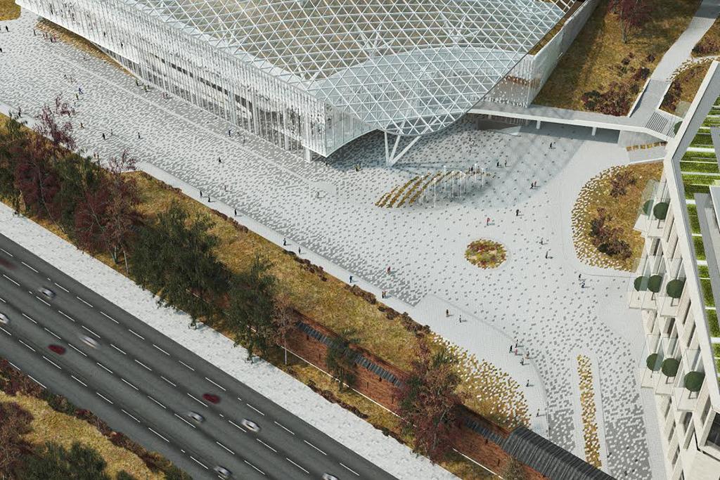 Архитектурную концепцию филармонии разработало бюро «ТПО Резерв», ранее занявшее второе место вмеждународном конкурсе наконцепцию парка «Зарядье»