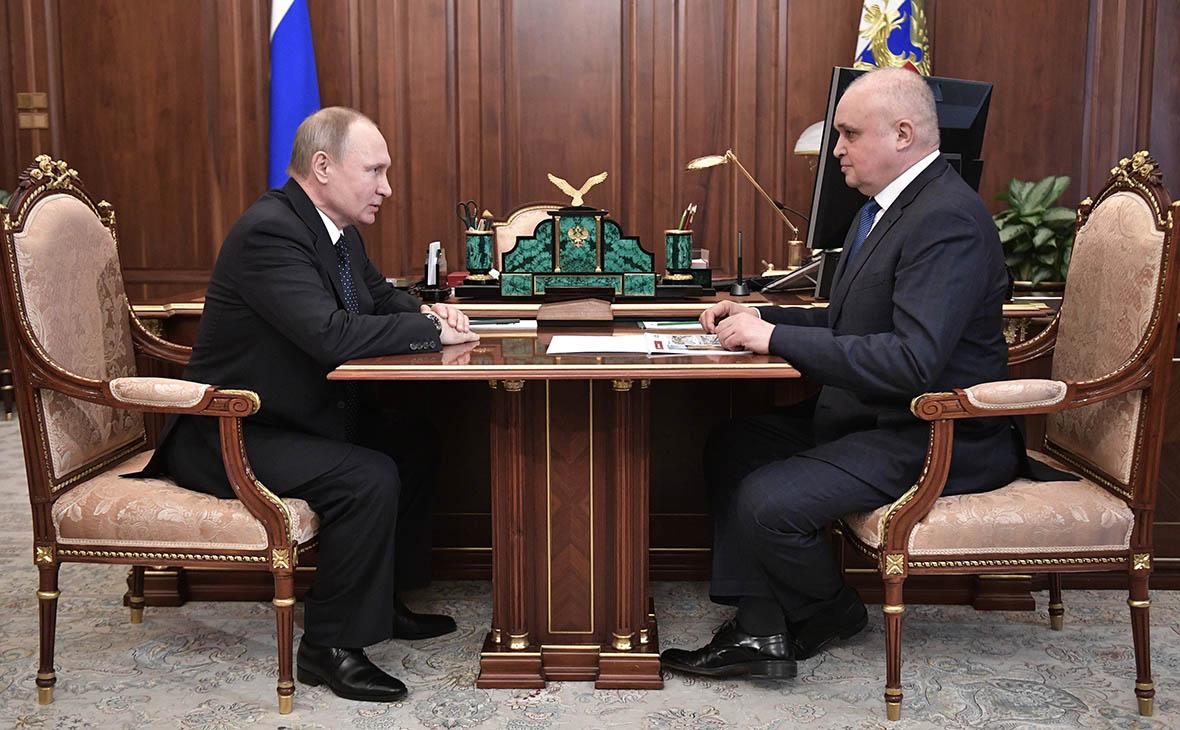 Владимир Путин и Сергей Цивилев