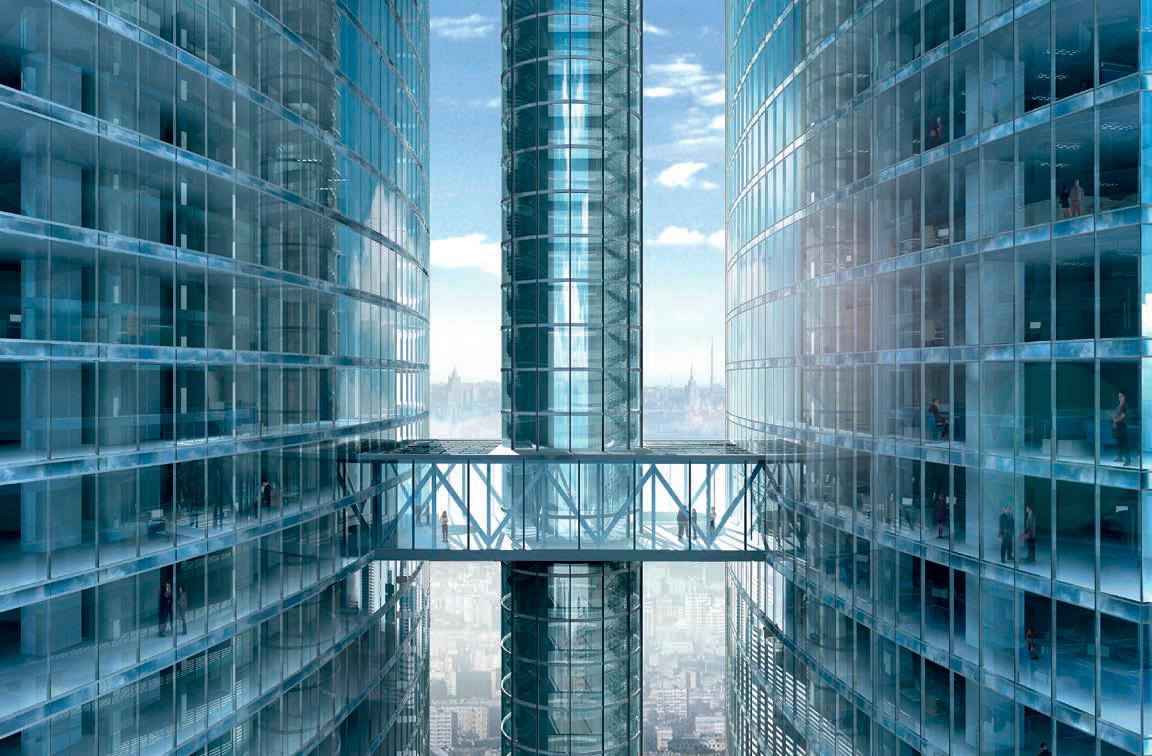 Проект перехода между башнями через шпиль