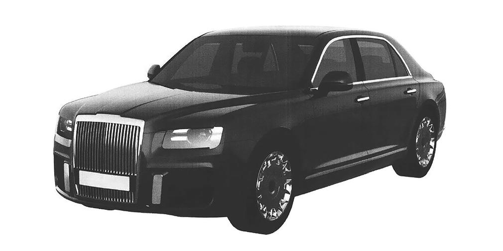 Второй вариант рисунков, поданный на патент уже этой зимой, практически полностью раскрыл облик будущего серийного лимузина.