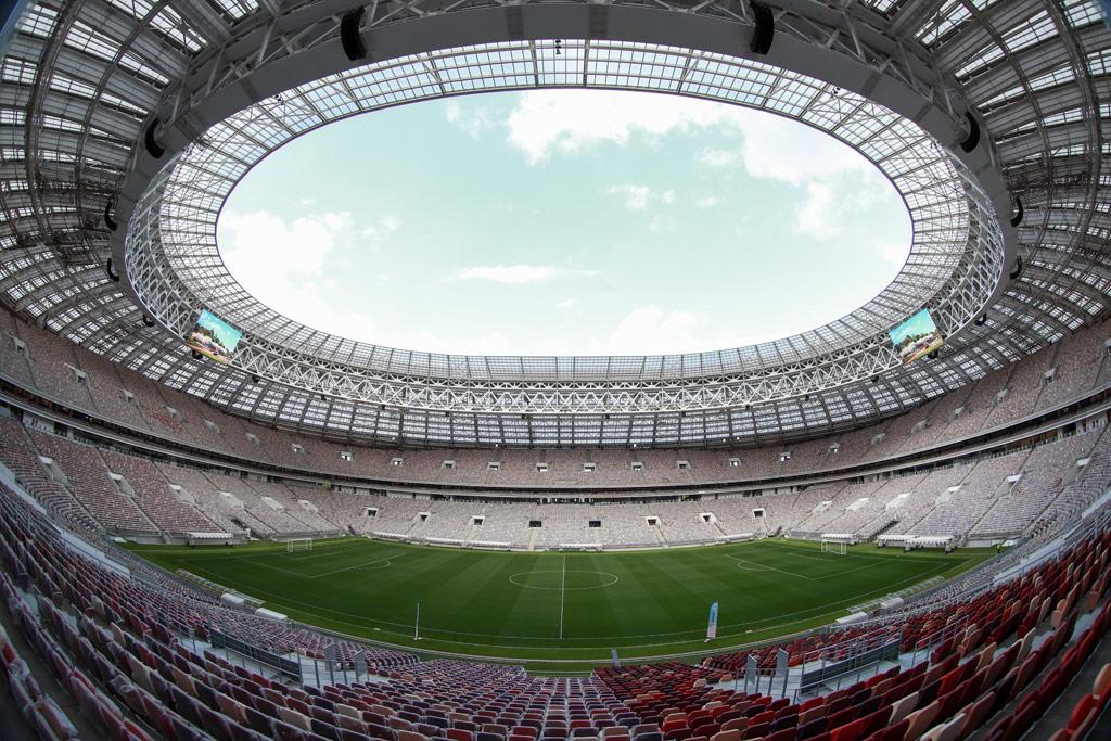 На стадионе «Лужники», которыйбыл реконструирован входе подготовки кчемпионату мира пофутболу 2018 года