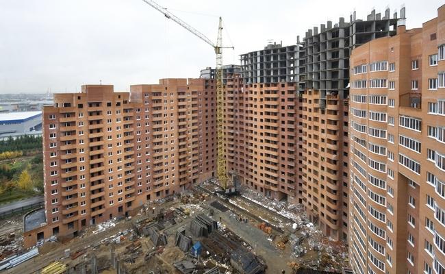 Строящийся дом в Москве