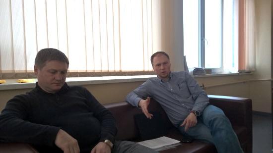 Роман Трешин (слева) иМаксим Егоренков