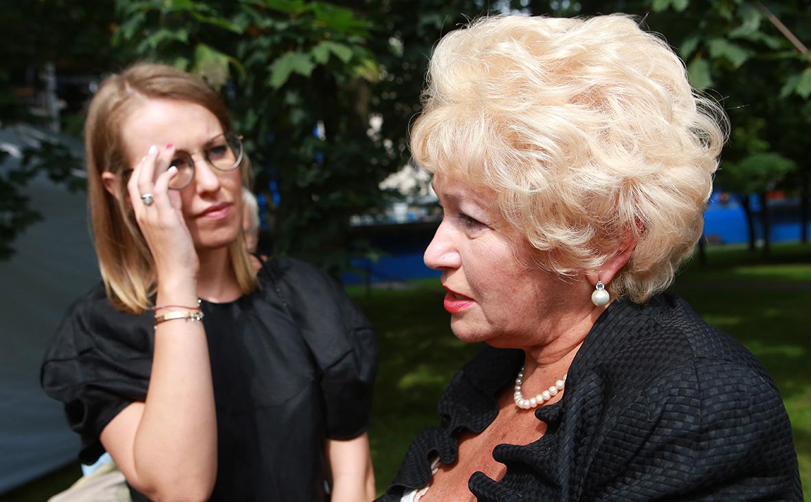Ксения Собчак (слева) иЛюдмила Нарусова