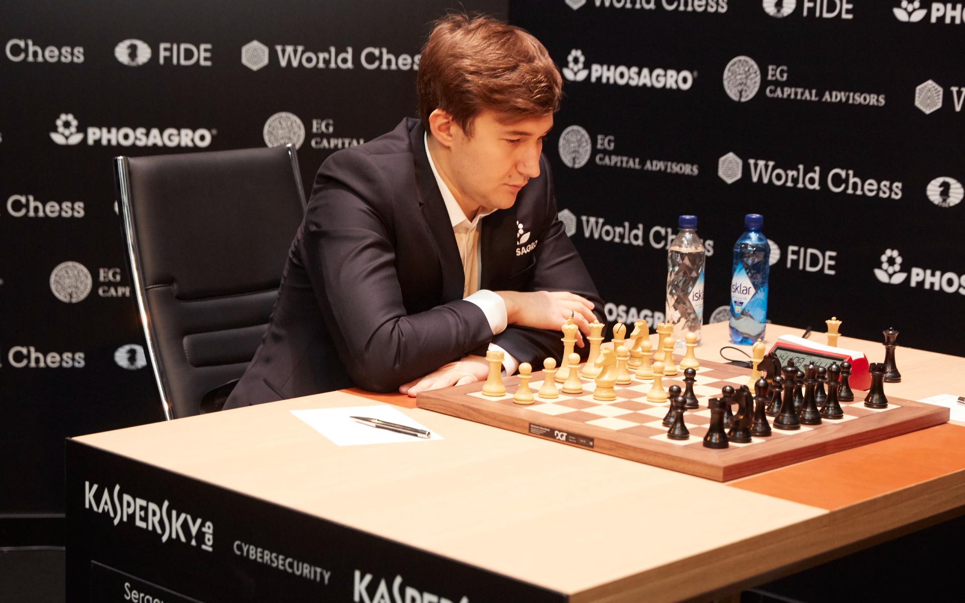 Фото: Сергей Карякин ( Sebastian Reuter/Getty Images for World Chess)