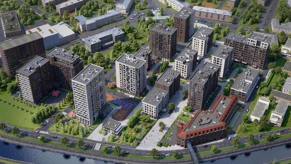 Визуализация планировки нового квартала