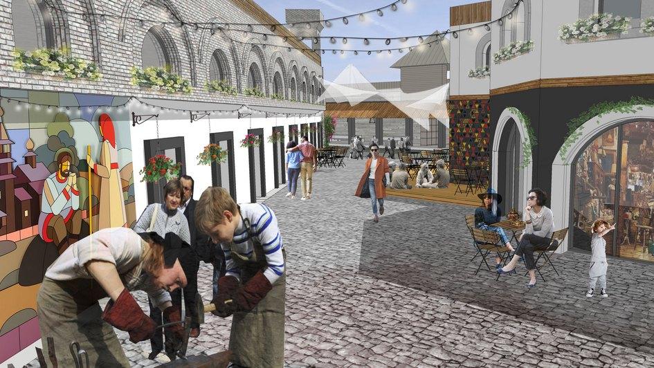 Визуализация будущих улиц на территории Vernissage