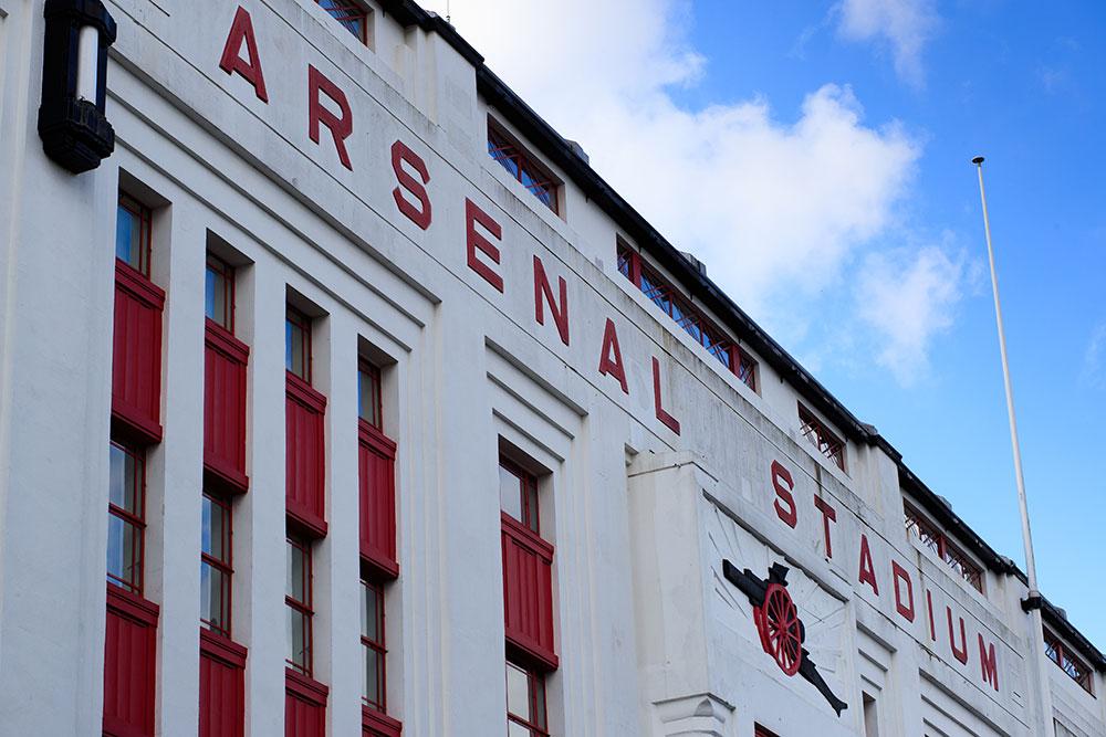 Фасад старого стадиона Arsenal