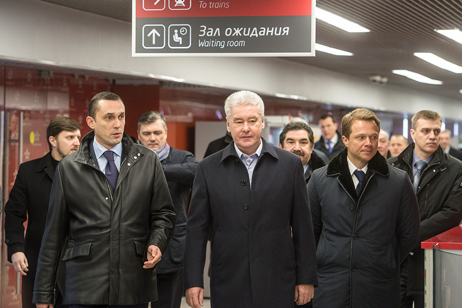 Алексей Криворучко, Сергей Собянин и Максим Ликсутов (слева направо)