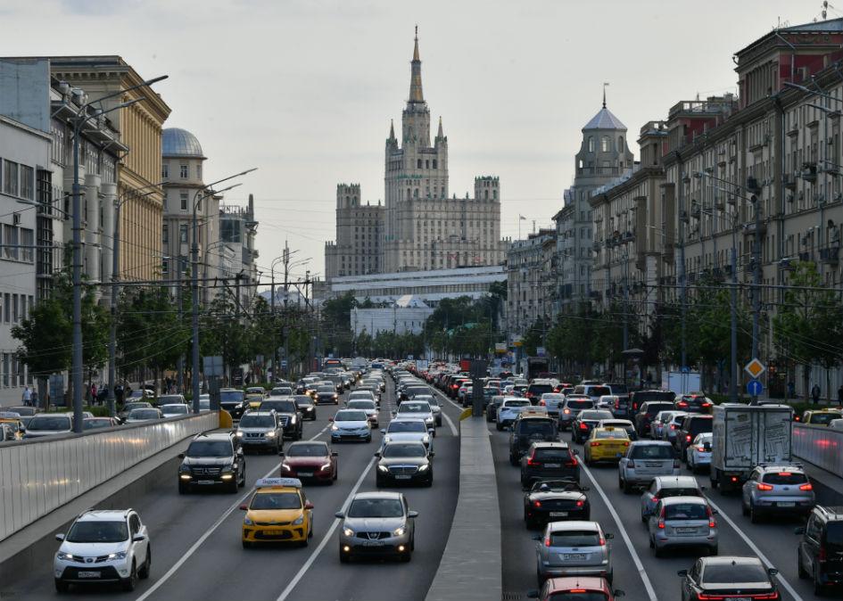 Пробка на Садовом в Москве