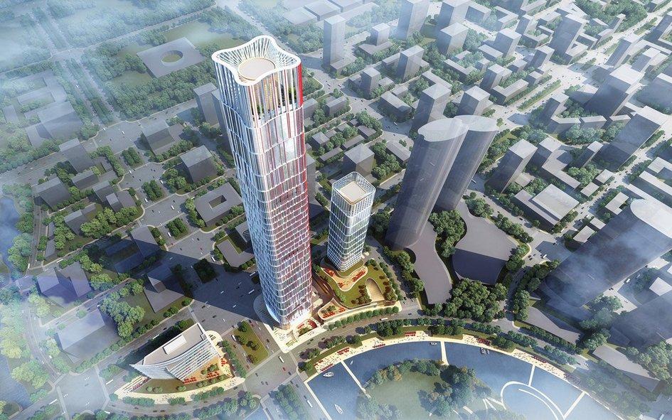 Optics Valley Center строится наюго-востоке города Ухань— 10-миллионного мегаполиса впровинции Хубэй