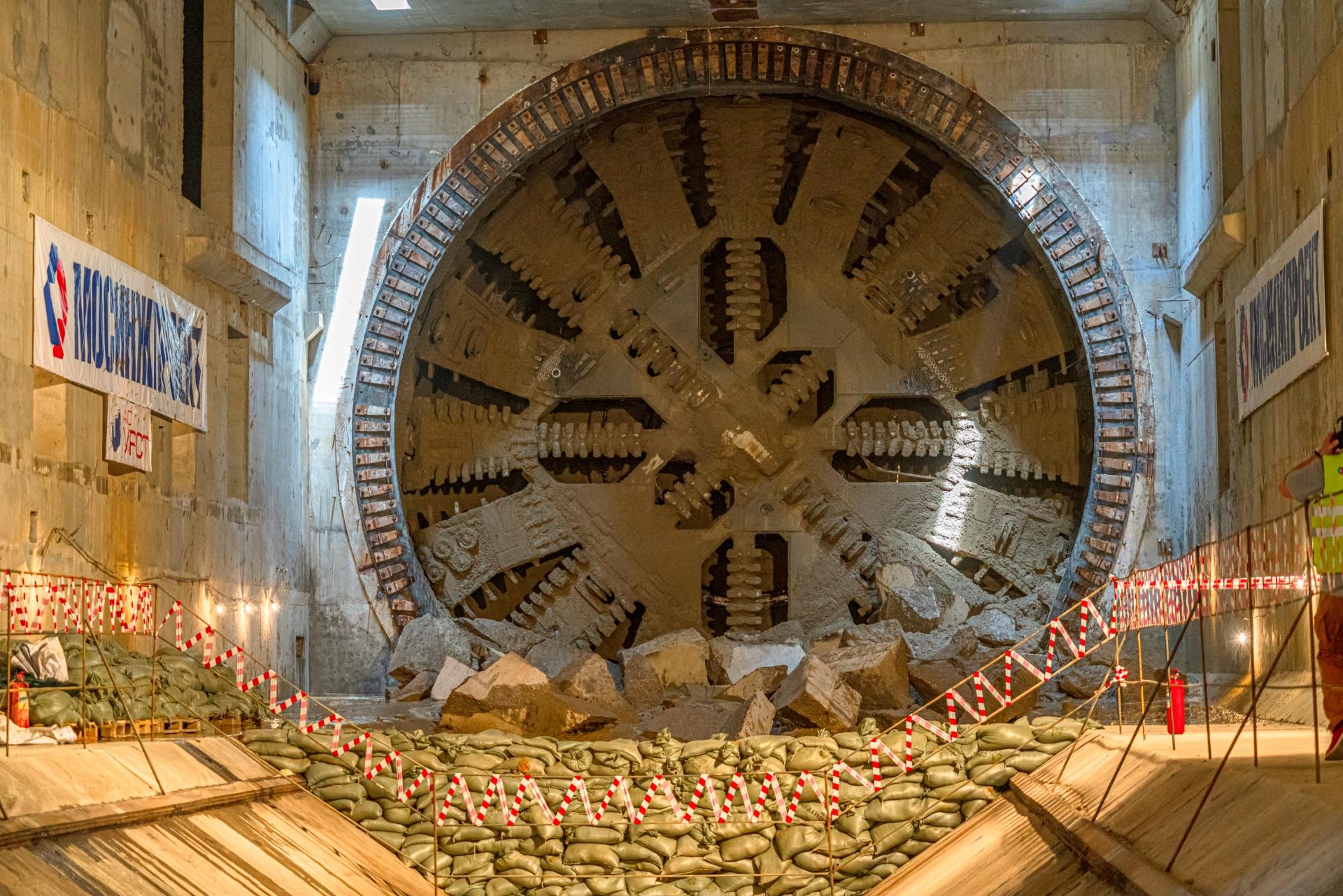 Финиш 10-метрового тоннелепроходческого комплекса «Надежда» на БКЛ