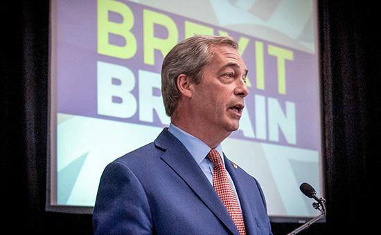 Один изглавных инициаторов референдума овыходе Великобритании изЕС, лидер Партии независимости Соединенного Королевства (UKIP) Найджел Фарадж