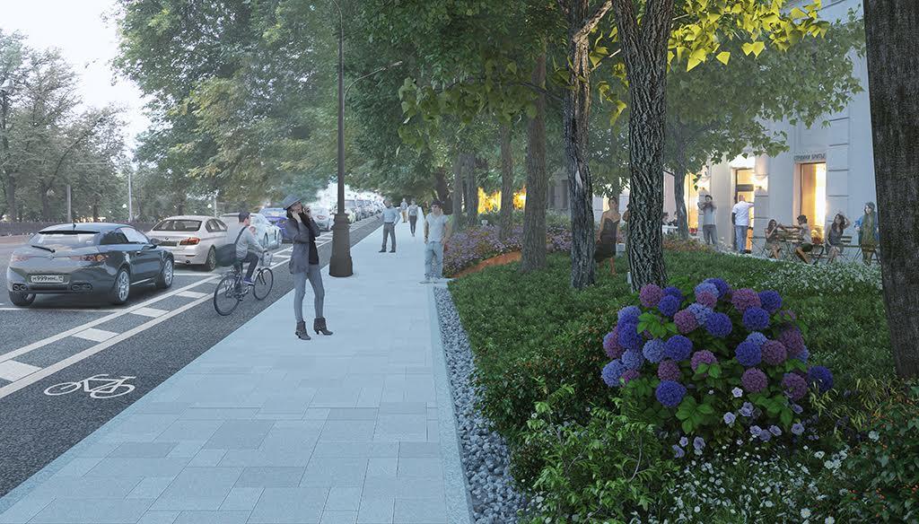 Визуализация проекта благоустройства Чистопрудного бульвара