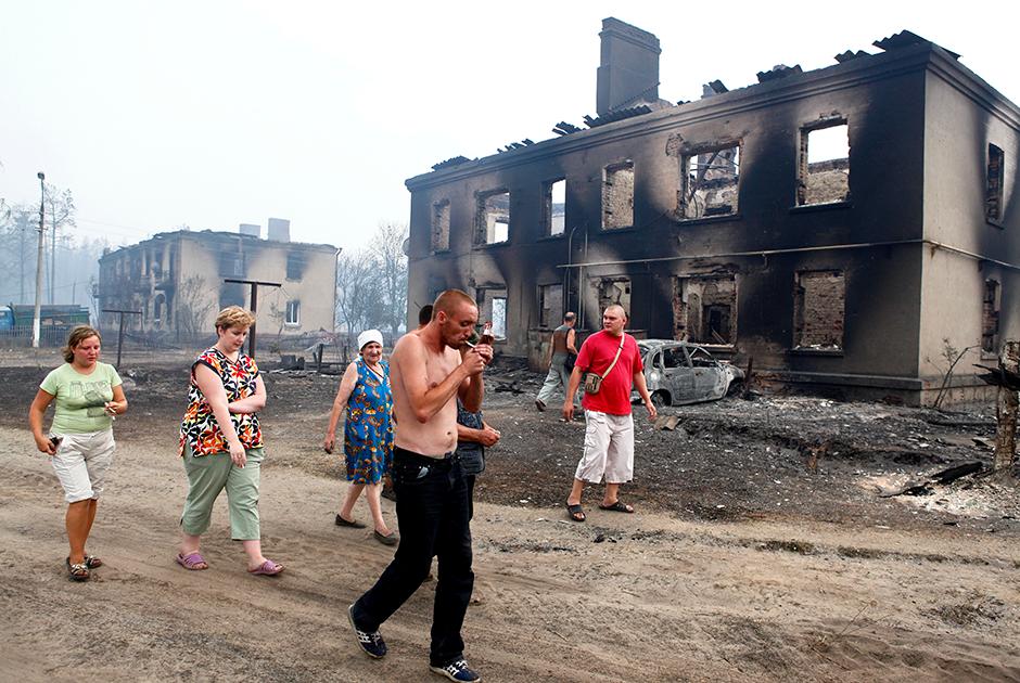 Жители Мохового после пожара