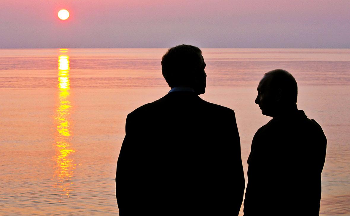 Джордж Буш и Владимир Путин (слева направо)