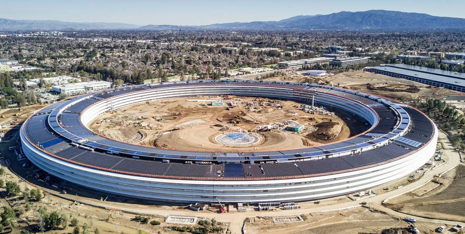 Штаб-квартира компании Apple в Калифорнии
