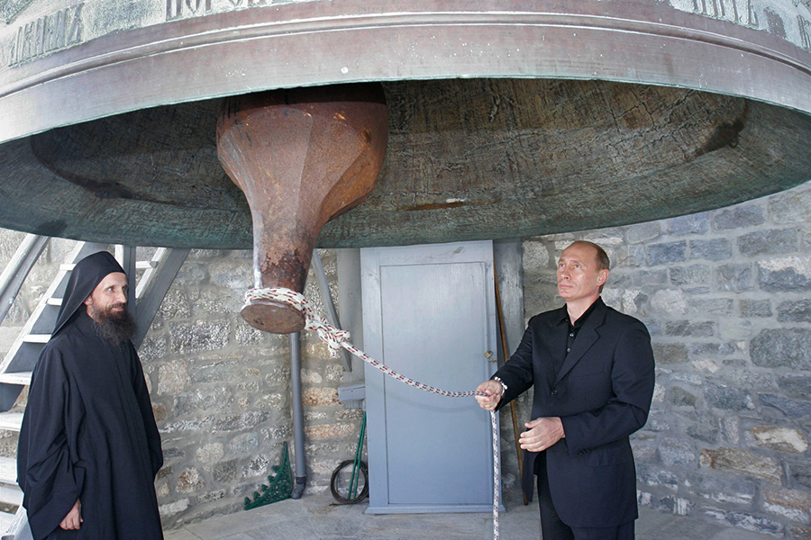 Владимир Путин ездил на Афон дважды. Первая поездка состоялась в 2005 году, вторая — в 2016-м