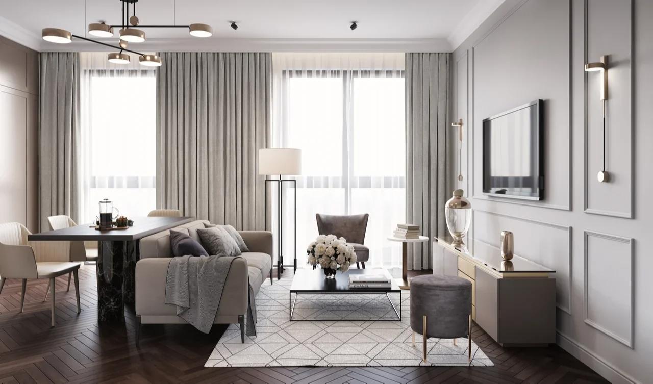 Пример дизайна квартирыв ЖК Sydney City. ВизуализацияФСК