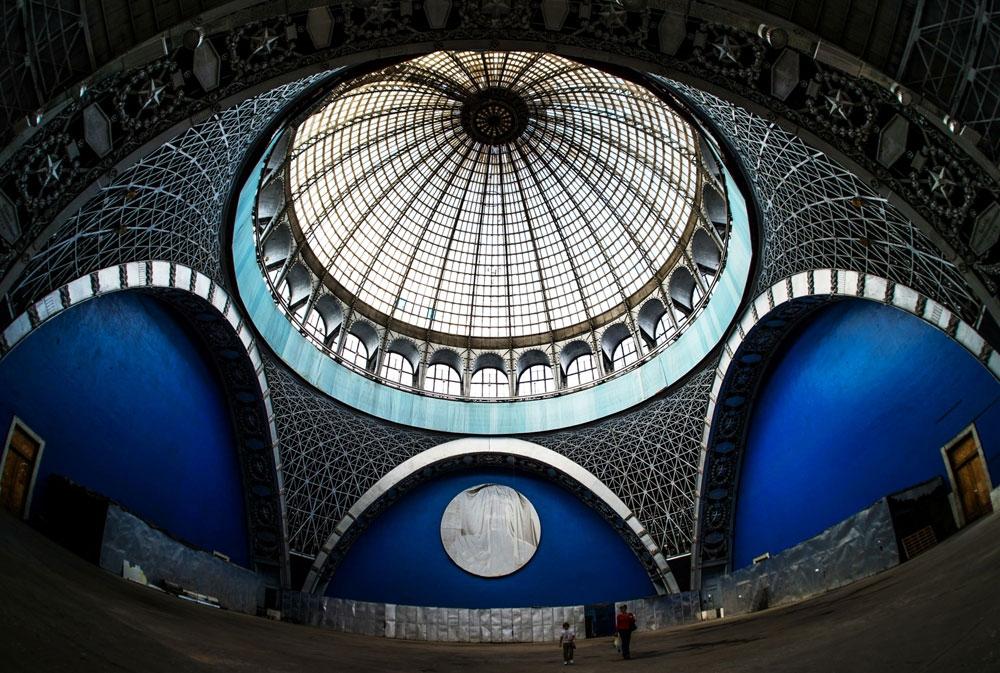 Уникальный купол павильона Космос