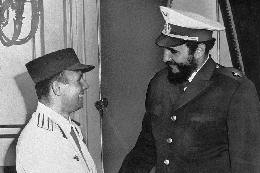 Юрий Гагарин и Фидель Кастро, 25 июля 1961 года