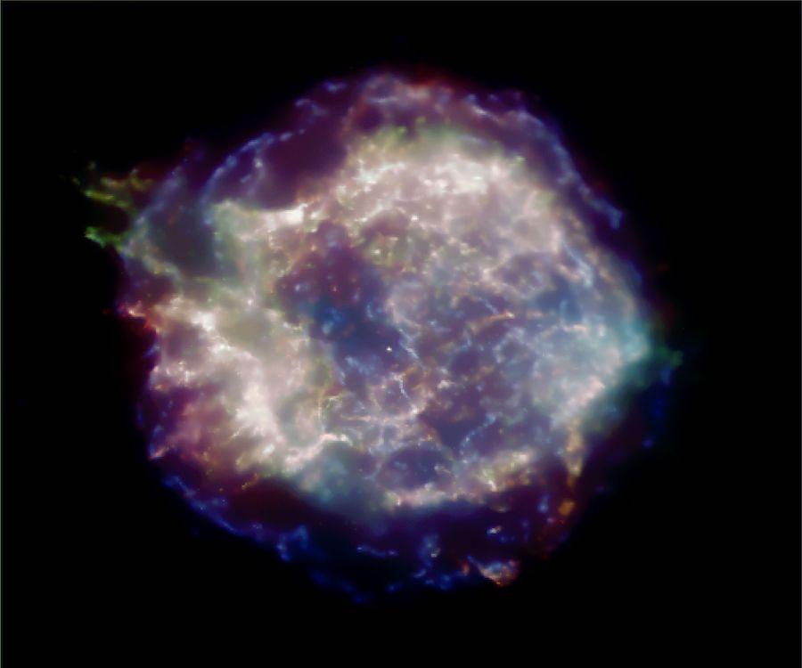 Снимок остатка сверхновой Кассиопея A