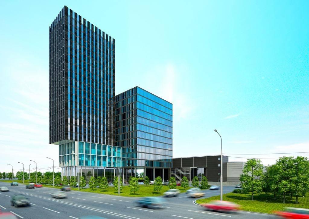 Проект офисно-гостиничного комплекса наКалужском шоссе вНовой Москве