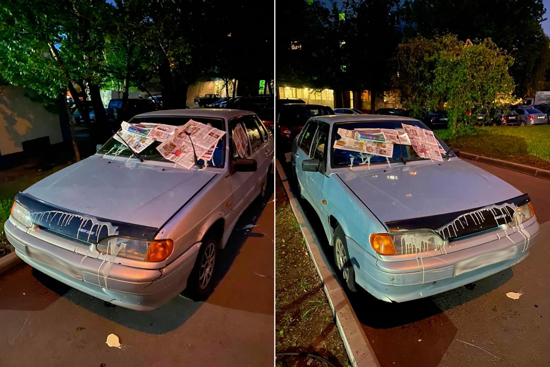 <p>Местные жители борятся с автохамами, обрушивая на их машины пакеты с мусором, разбитые яйца, банки с краской и водой.</p>