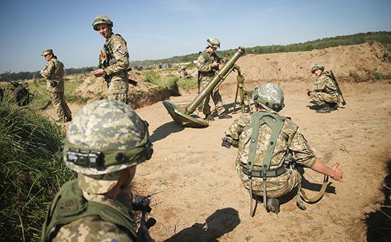 Тренировка украинских военных, 16 сентября 2014 года