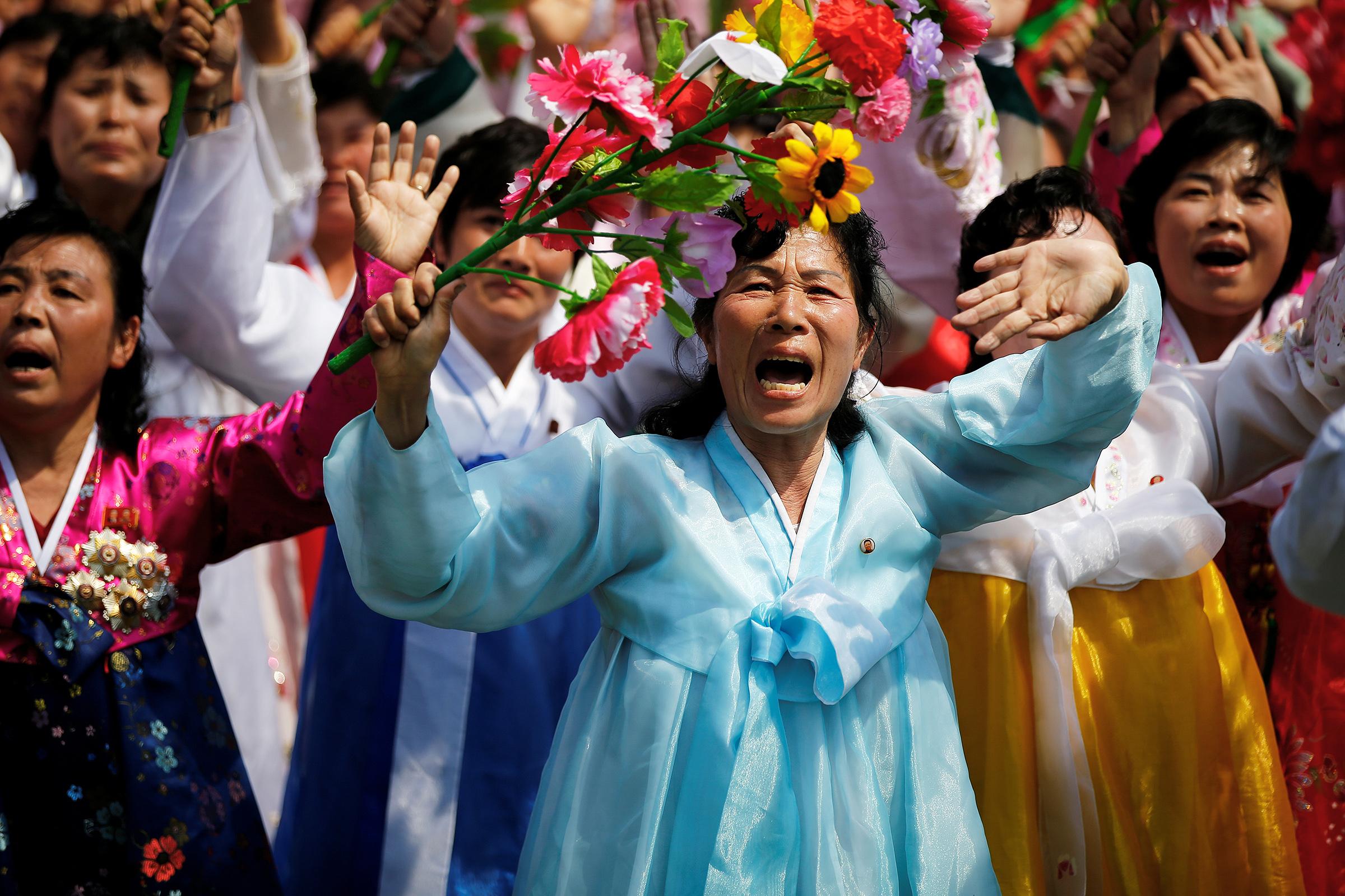 Парад в честь Ким Чен Ына традиционно проходит в мае, когда кончается съезд Трудовой партии Кореи.