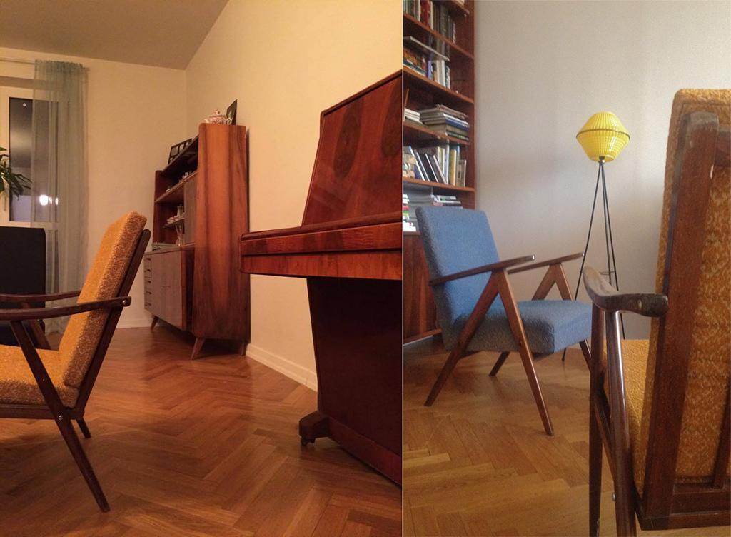 Советский сервант, пианино икресла, у которых неменяли обивку, —это небабушкина квартира, адизайнерский интерьер Артема Дежурко, коллекционера мебели