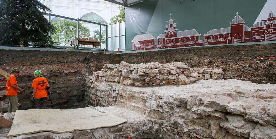 Раскопки на территории Московского Кремля