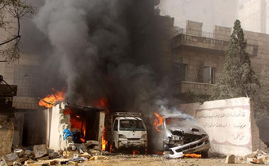 Последствия боев в Алеппо (архивное фото)