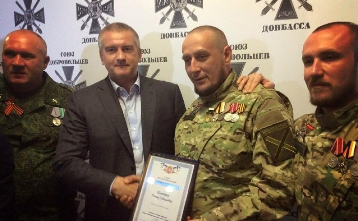 Глава Крыма Сергей Аксенов и Роман Теленкевич