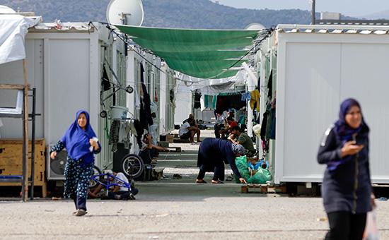 Лагерь для беженцев в Греции. Август 2016 года