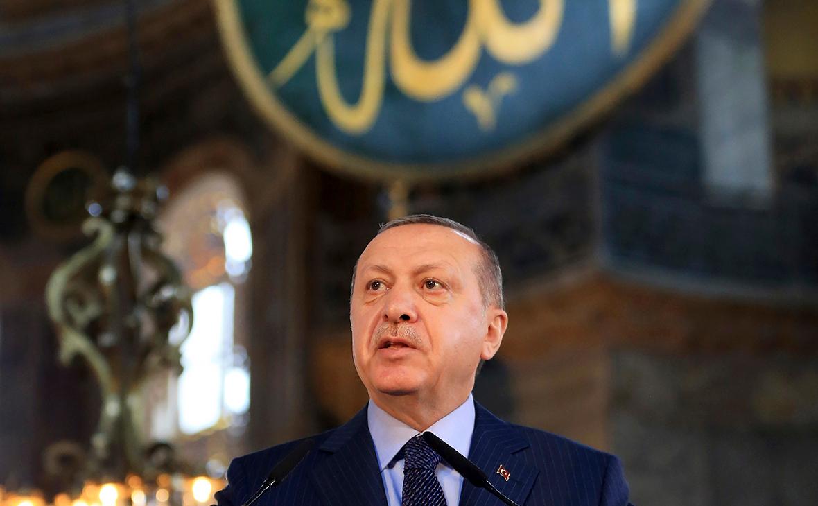 Реджеп Тайип Эрдоган в соборе Святой Софии