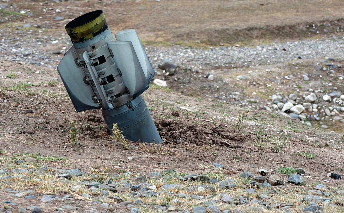 Реактивный снаряд использовавшийся при обстреле Нагорного Карабаха