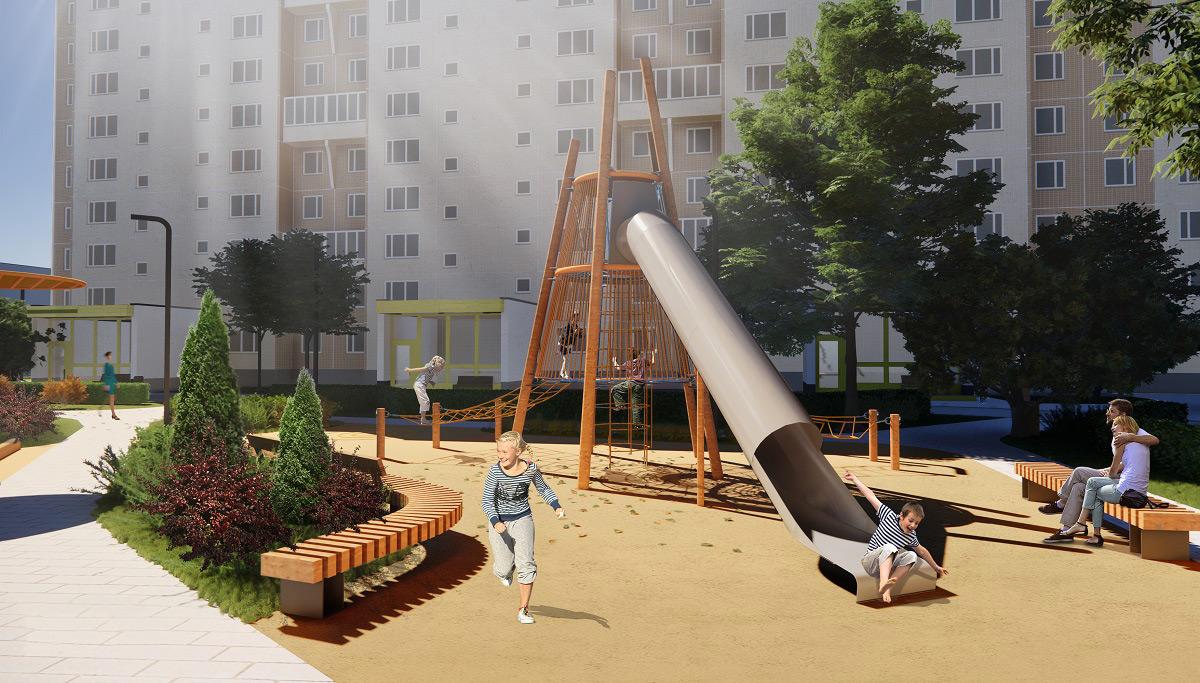 Архитектурное бюро Megabudka. Проект «Двор-архипелаг»