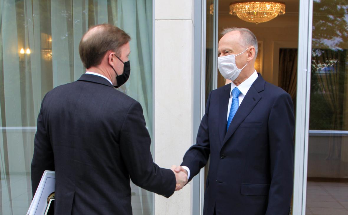 Джейк Салливан и Николай Патрушев во время встречи