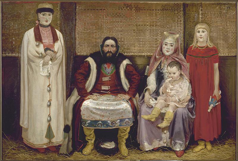 Картина Андрея Рябушкина «Купеческая семья XVII века»