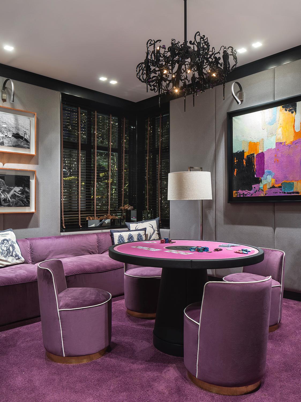 Покерная комната. Дизайн студии INRE
