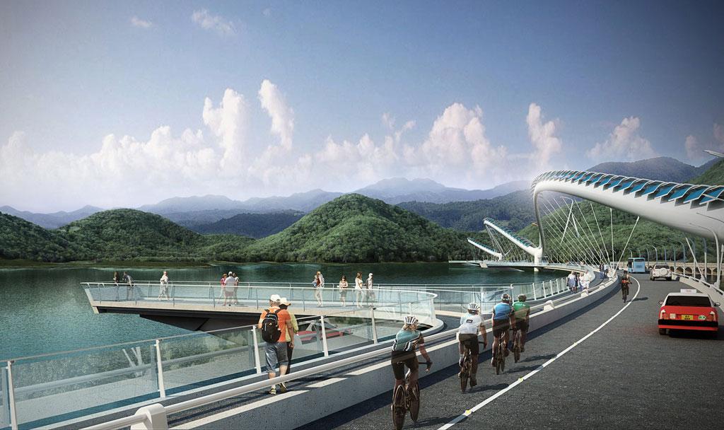 На создание моста в форме дракона американских архитекторов из M CO Design вдохновили китайские традиции и культура