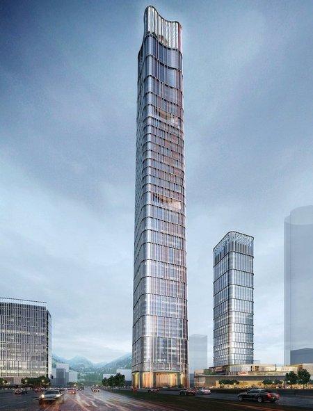 Небоскреб будет построен в2022 году. Общая площадь Optics Valley Center составит 315тыс.кв. м